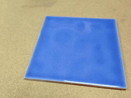Azulejo 15x15cm azul e preto