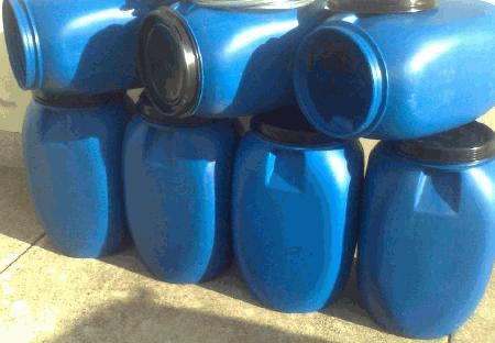 Barricas plásticas de 60 litros com tampa