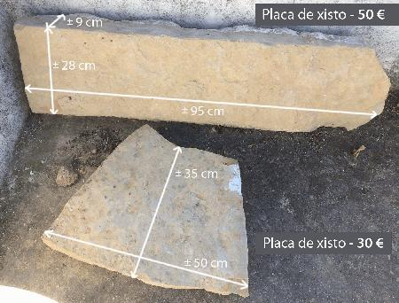 Placas / poste de pedra xisto
